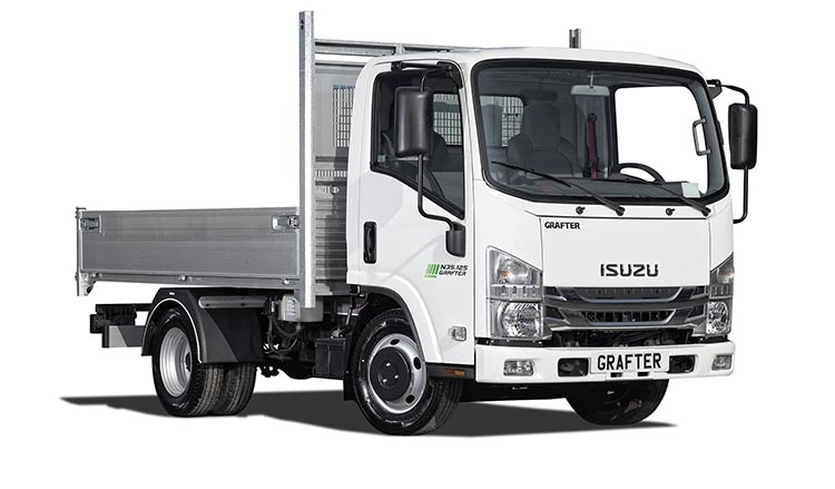 Tipper Isuzu Grafter Green
